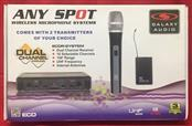 Galaxy Audio ECDR/HH38 Dual Handheld UHF Wireless Microphone System